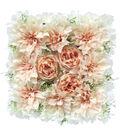 Fresh Picked Spring Dahlia, Rose & Hydrangea Tile-Pink