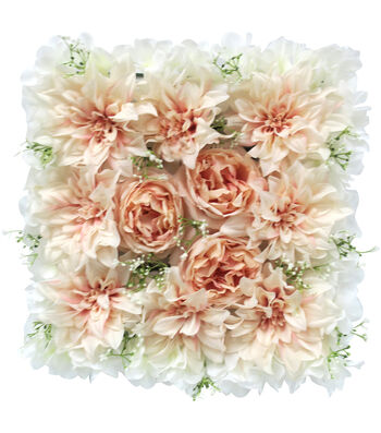Fresh Picked Spring Dahlia, Rose & Hydrangea Tile-Pink