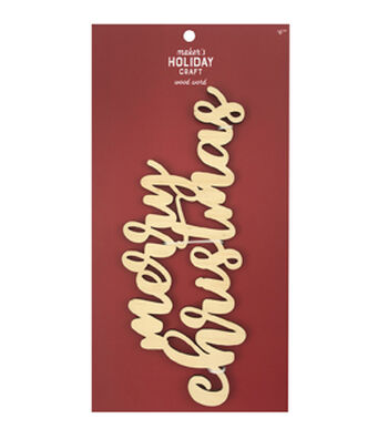 Maker's Holiday Craft Craft Wood Words-Merry Christmas