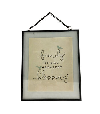 Simply Spring 12'' Wall Decor-Family is the Greatest Blessing