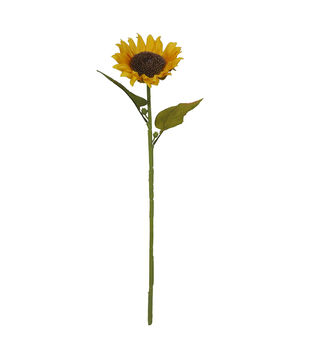 Blooming Autumn Water Resistant Sunflower Stem-Yellow