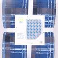 No Sew Fleece Throw 72\u0022-Navy Plaid
