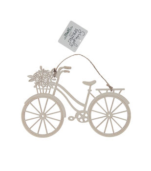 Simply Spring Craft 8.58''x0.2'' Wooden Bicycle with Flowers