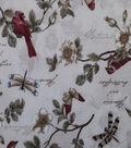 Premium Cotton Fabric-Camila Cream Birds