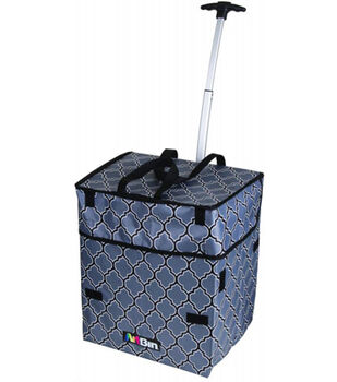 ArtBin Collapsible Rolling Tote-Blue