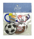 Fab Lab 7 pk Sport Iron-on Applique Patches