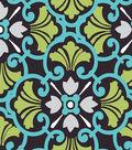 Fabric-Central Cotton Fabric-Misciano Grey Medium Floral