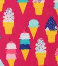 Blizzard Fleece Fabric -Ice Cream Cones