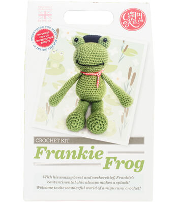 The Crafty Kit Co. Crochet Kit-Frankie Frog
