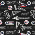 Chicago White Sox Cotton Fabric -Vintage