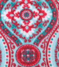 Anti-Pill Fleece Fabric 59\u0022-Joy Medallion Red Teal