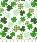 Holiday Inspirations St. Patrick\u0027s Day Fabric -Gingham Clover