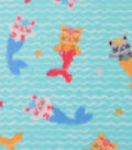 Blizzard Fleece Fabric 59\u0027\u0027-Purrrmaid Fun