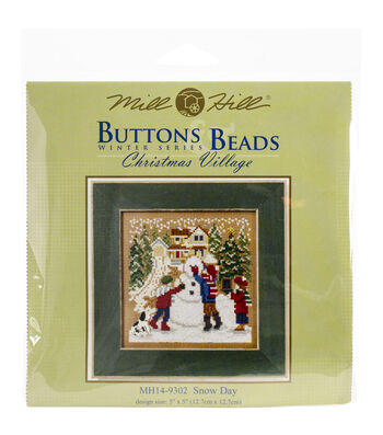 Mill Hill Buttons & Beads 5''x5'' Counted Cross Stitch Kit-Snow Day