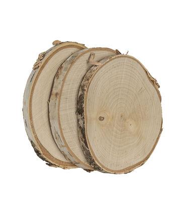 Natural Birch with Bark 3 pk Coaster