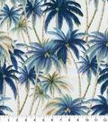 Tommy Bahama Outdoor Fabric 9\u0022x9\u0022 Swatch-Artisan Palms Night Swim