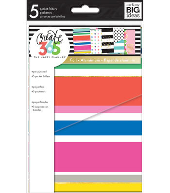 The Happy Planner Mini Pocket Folders-Multi Dots
