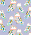 Snuggle Flannel Fabric-Bohemian Patterned Owls