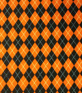 Holiday Inspirations Fabric-Halloween Argyle