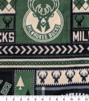 Milwaukee Bucks Fleece Fabric-Fair Isle, , hi-res
