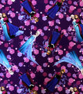 Disney Frozen Sisters Forever Purple Toss Twill Fabric