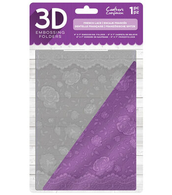 Crafter's Companion 5''x7'' 3D Embossing Folder-French Lace