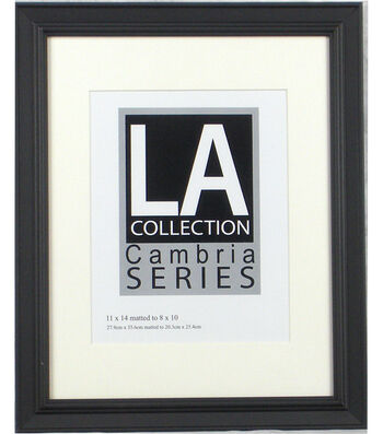 LA Collection Cambria Series Plastic Wall Frame 11''x14''-Black