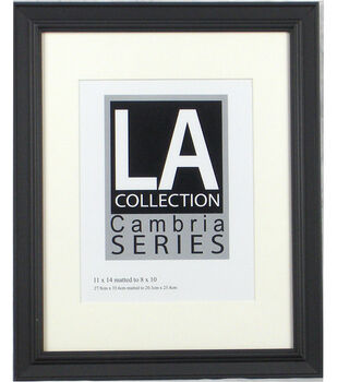 21e0b08ab71 LA Collection Cambria Series Plastic Wall Frame 11  x14  -Black