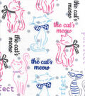 Snuggle Flannel Fabric -The Cat\u0027s Meow