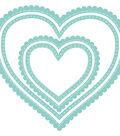 Kaisercraft Decorative Die-Nest Scallop Stitch Hearts 2.25\u0022 To 4.25