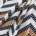 Ember Knit Prints Double Brushed Fabric-Black & White Geo Herringbone