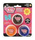 Bobble Bitz Crunchy Molding Compound Triple Pack-Multi, Orange & Blue