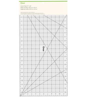 """Cricut 12""""x24"""" Acrylic Ruler-Clear"""