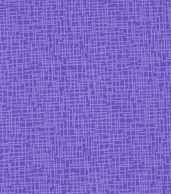 Mardi Gras Cotton Fabric-Crosshatch Purple
