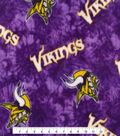 Minnesota Vikings Fleece Fabric -Tie Dye
