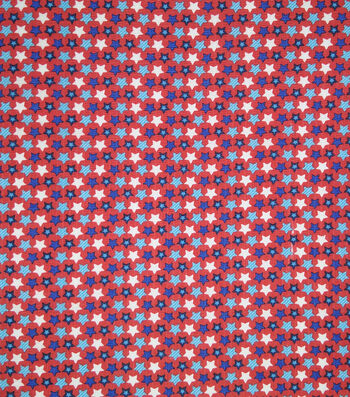Doodles Textured Fabric 43''-Red, White & Blue Star Spangled