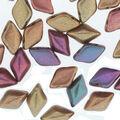 Matubo Gemduo Czech Glass Beads-Rainbow