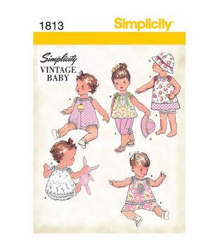 Simplicity Patterns Us1813A-Simplicity Babies Sportswear-Xxs-Xs-S-M-L