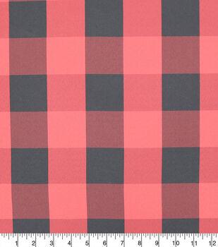 Sew Sweet Plaid Buffalo On Taffeta Fabric-Red/Black