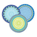 Eureka Blue Harmony Assorted Round Paper Cut Outs 36 Per Pack, 6 Packs