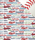 Baseball Double-Sided Cardstock 12\u0022X12\u0022-Baseball Words