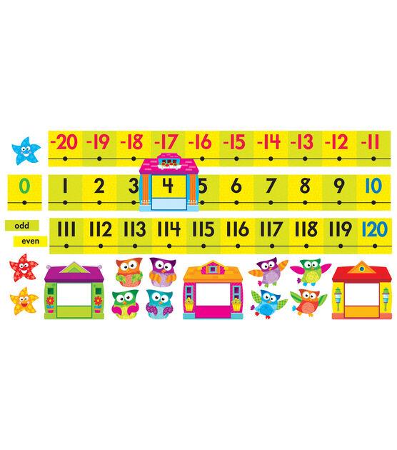 Owl Stars! Number Line  20 to 120 Bulletin Board Set, , hi-res, image 2