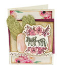 Sizzix Framelits Dies with Stamps-Just For You