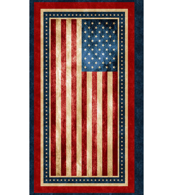 Patriotic Novelty Cotton Panel-American Flag