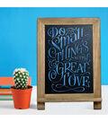 VersaChalk Slate Kickstand Chalkboard W/Frame-14\u0022X9.5\u0022
