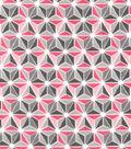 Snuggle Flannel Fabric -Pink Geometric