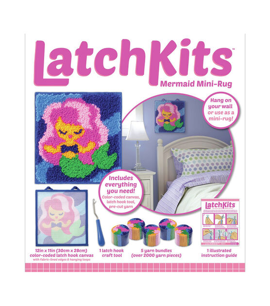 LatchKits Mini-Rug Sewing Kit The Classic Latch Hook Craft Kit Unicorn /& Mini-Rug Sewing Kit The Classic Latch Hook Craft Kit Owl