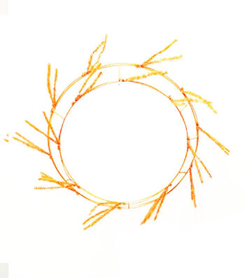 Maker's Halloween Wreath Form-Orange
