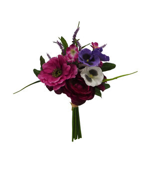 Fresh Picked Spring 13'' Lavender & Pansy Bouquet