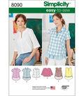 Simplicity Patterns US8090H5 Tops, Vest, Jkts, Coats-6-8-10-12-14